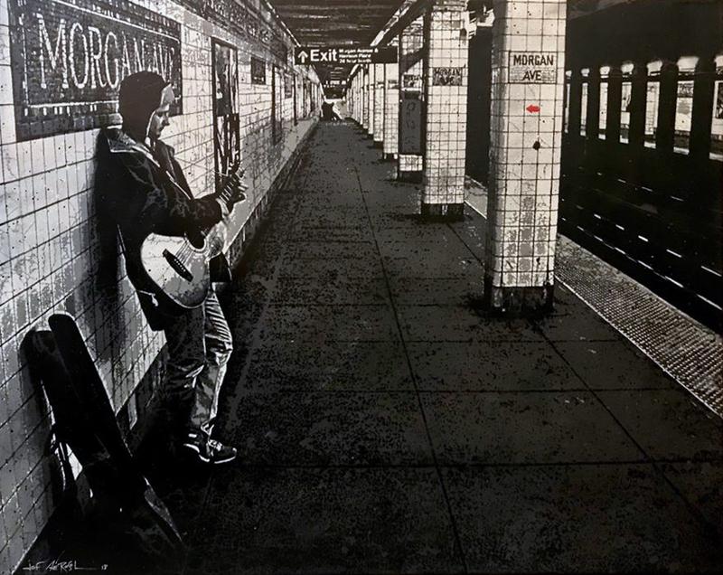 JEF AÉROSOL - Painting - Morgan avenue Subway station