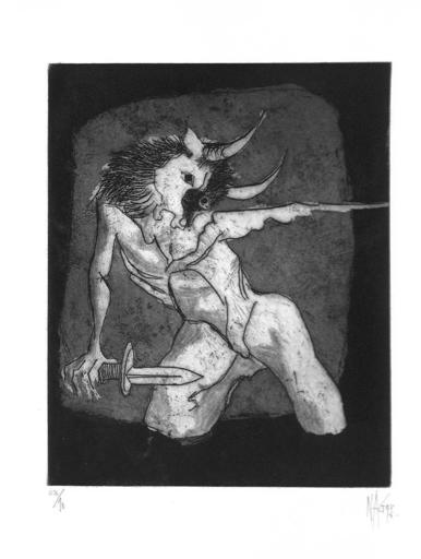 Nag ARNOLDI - Grabado - Specchio del Minotauro