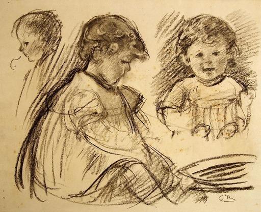 Louis Henri DE MEURON - Disegno Acquarello - Kinderstudien