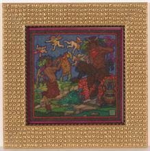 "Alfred WAAGNER - Dibujo Acuarela - Alfred Waagner (1886-1960) ""Nightly duett"" watercolor, 1910s"