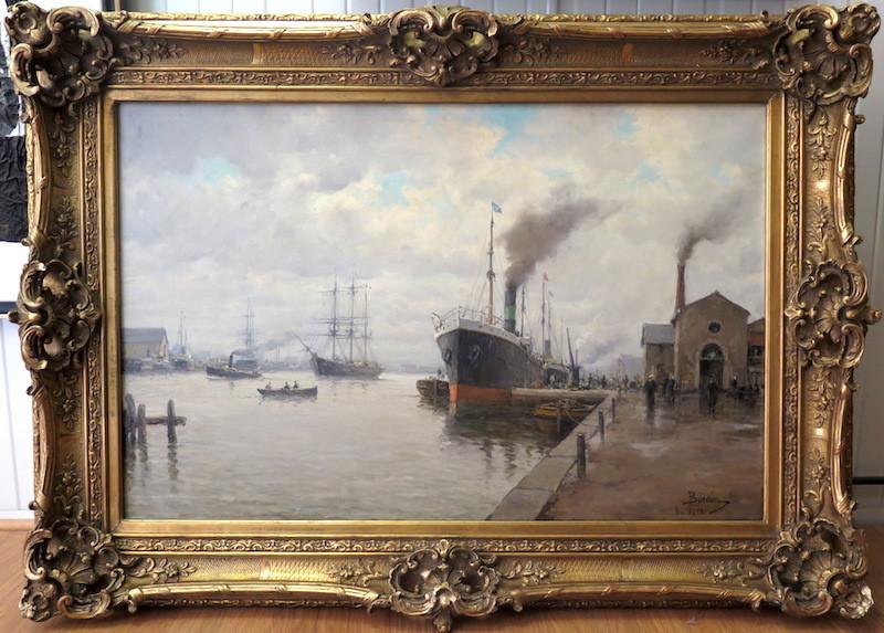 Amélie BURDIN - 绘画 - Le port de Nantes