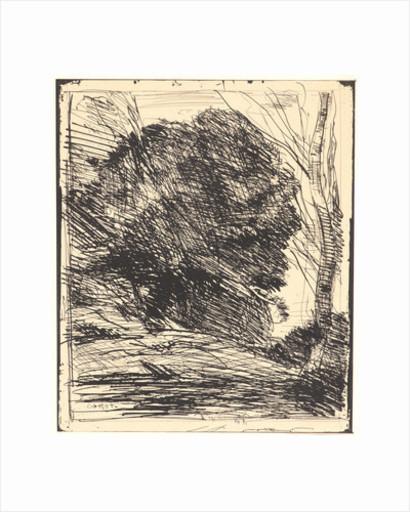 Camille Jean-Baptiste COROT - Print-Multiple - Les Arbres dans la Montagne