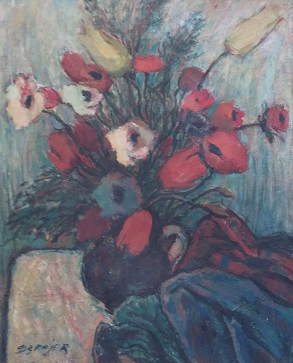 Seweryn SZRAJER - Gemälde - The Flowers