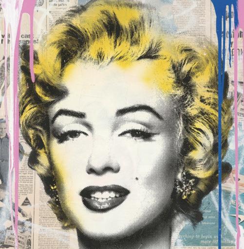 MR BRAINWASH - Pintura - Marilyn Monroe