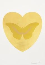 Damien HIRST - Grabado - I Love You - Gold Leaf/Oriental Gold/Cool Gold