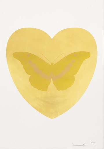 Damien HIRST - Print-Multiple - I Love You - Gold Leaf/Oriental Gold/Cool Gold