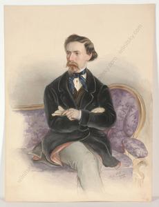 "Friedrich WOLF - Miniatur - ""Portrait of a Gentleman"", watercolor, 1848"