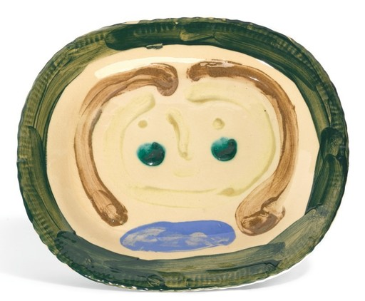 Pablo PICASSO - Ceramic - Esquisse de visage de femme