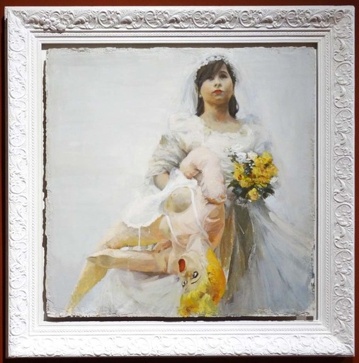SACRIS - Pittura - La nena. Clase de catecismo