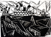 里欧纳尔•斐宁格 - 版画 - Armada I, from: Twelve Woodcuts by Lyonel Feininger