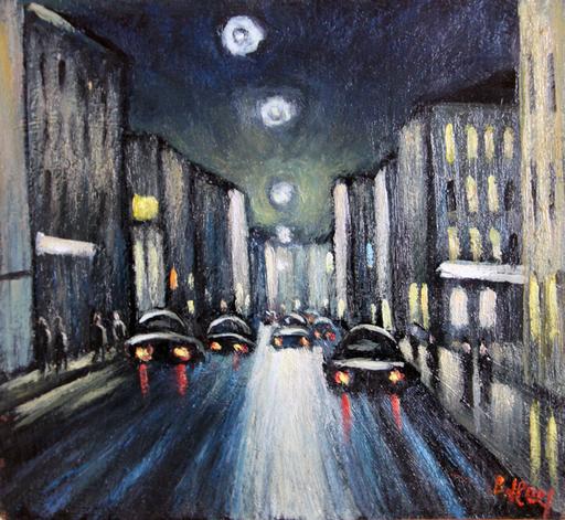 Valeriy NESTEROV - Peinture - Night Moscow
