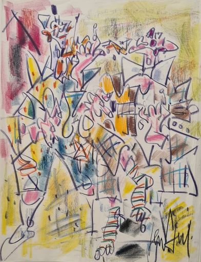 GEN PAUL - Drawing-Watercolor - Clowns musiciens