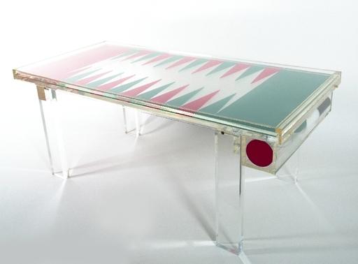 Heinz Te LAAKE - Backgammon-Spieltisch