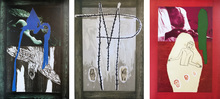 Mimmo PALADINO - Stampa Multiplo - Set of three mixed media prints