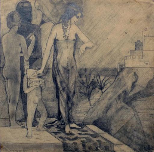Konstantin Nikolaevich SURIAEV - Disegno Acquarello - Eastern motiv