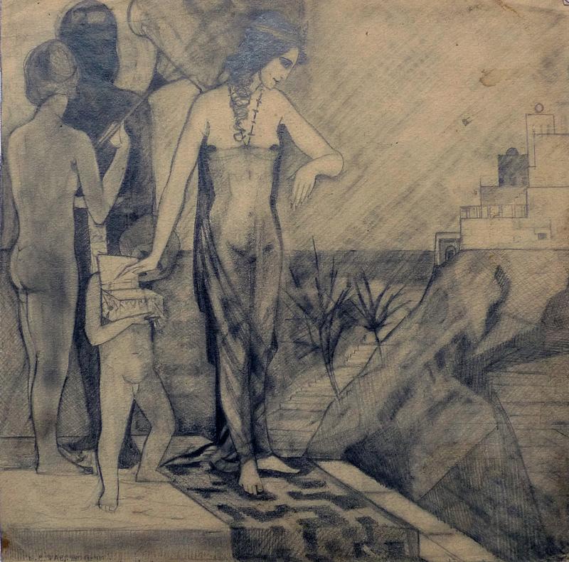 Konstantin Nikolaevich SURIAEV - Dibujo Acuarela - Eastern motiv