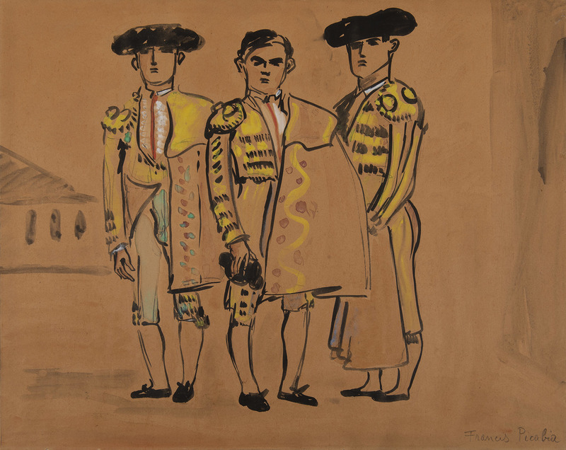 Francis PICABIA - Drawing-Watercolor - Les toreos