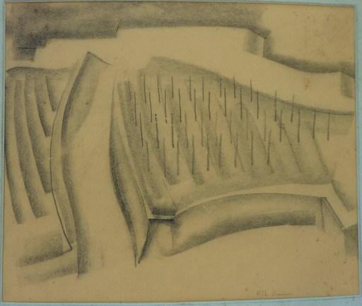 Rodolphe Théophile BOSSHARD - Drawing-Watercolor -  Chemin dans les vignes