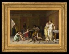 Joseph COOMANS - Pintura - Une Arrestation