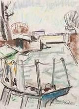 Willy EISENSCHITZ - Dibujo Acuarela - Kanal St.Martin