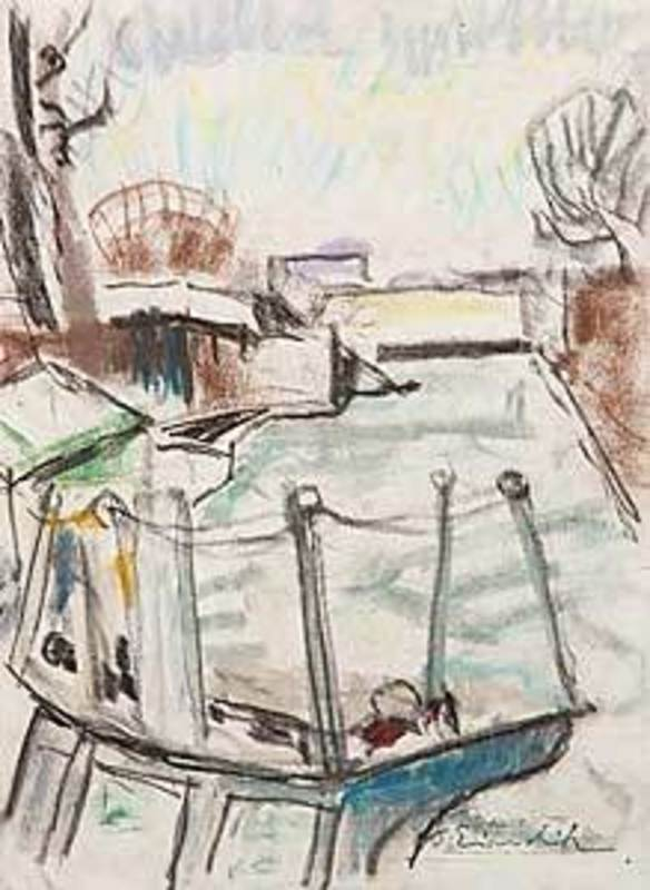 Willy EISENSCHITZ - Drawing-Watercolor - Kanal St.Martin