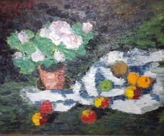 Karl STARK - Painting - Blumenstilleben