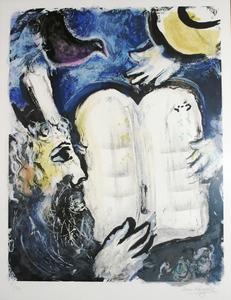 Marc CHAGALL, Moise et les Tables de la Loi