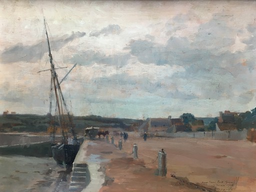 Georges CAPGRAS - Pittura - Port de pêche