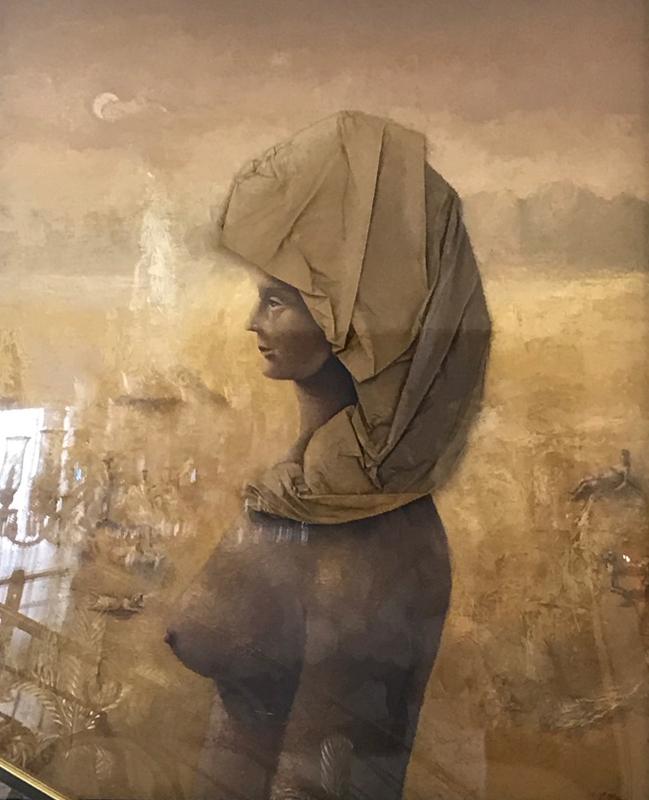 Carmelo NINO - Gemälde - Mujer con Turbante