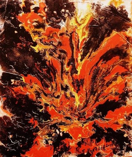 NADIA - Peinture - Tourbillon de feu