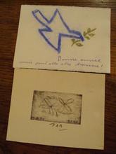 """Pierre-A. Benoit PAB (1921-1993) - """" Oiseau et fleurs"""""""