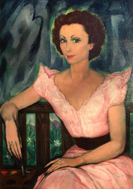 André MAIRE - Peinture - Portrait d'arletty