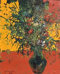 Jean COMMERE - Gemälde - Bouquet de printemps