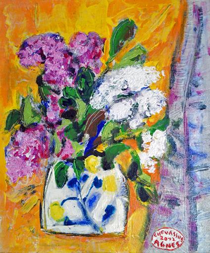Jean-Pierre CHEVASSUS-AGNES - Peinture - lilas de mon jardin