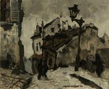 Oskar RABIN - Painting - Old Montmartre