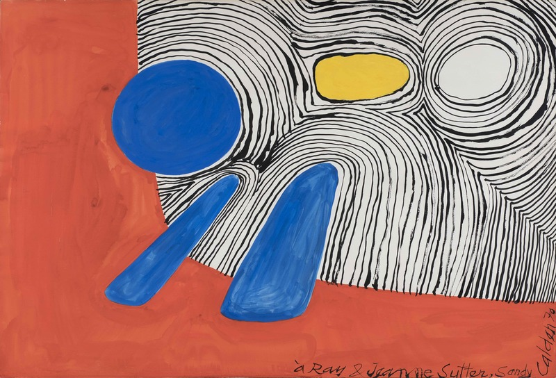 Alexander CALDER - Drawing-Watercolor - Composition