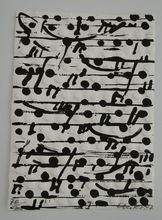 Günther UECKER - Print-Multiple - optische Partitur I (Notation)