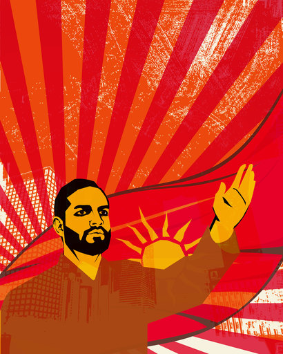 Mahmud OBAIDI - Pintura - Untitled 3 (The Replacement Propaganda)