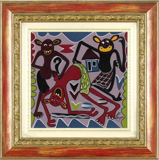 George LILANGA - Painting - Mama acha utani sisi bado niwanao tanaku penda