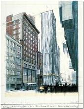 克里斯托 - 版画 - Project for No 1 Times Square