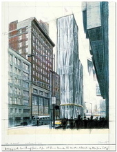 CHRISTO - Estampe-Multiple - Project for No 1 Times Square