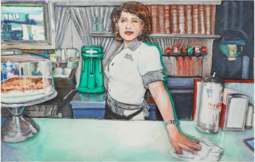 Larry RIVERS - Peinture - Deco Diner II