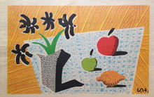 David HOCKNEY - Print-Multiple - Two Apples, One Lemon and Four Flowers