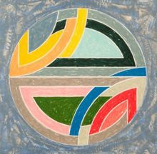 Frank STELLA - Estampe-Multiple - SINJERLI VARIATION SQUARED WITH COLORED GROUND IIa