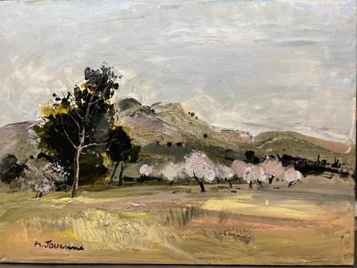 Michel JOUENNE - Peinture - LES AMANDIERS EN FLEURS