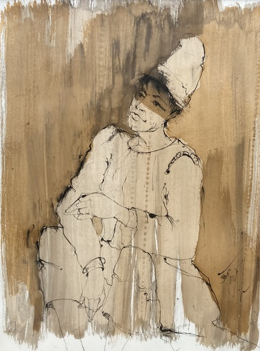 FRANCK L. - Disegno Acquarello - Arlequin