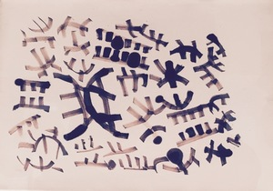 Giuseppe CAPOGROSSI - Zeichnung Aquarell - SUPERFICIE CP/464