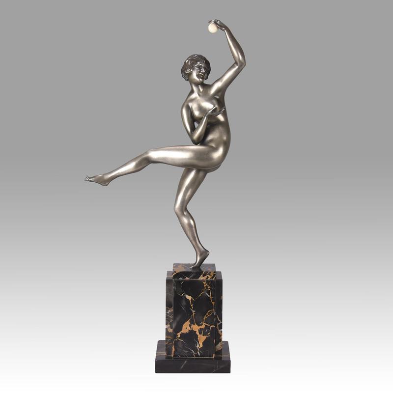 Maurice GUIRAUD-RIVIERE - Sculpture-Volume - Art Deco Bronze 'Dancer with Ball'