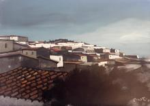 Enotrio PUGLIESE - Painting - PAYSAGE DE CALABRE