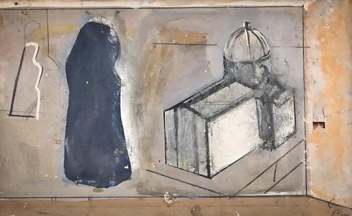 Mario SIRONI - Peinture - Chiesa e figura